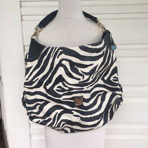 Dooney & Bourke zebra oversized bucket bag